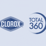 Clorox Total 360 company logo in blue colour on a transparent background