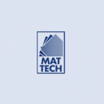 Mat Tech company logo in blue colour on a transparent background