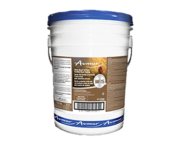 An Avmore WF725 Water Based Urethane Fortified Wood Coating pail, available through Bunzl Cleaning & Hygiene.