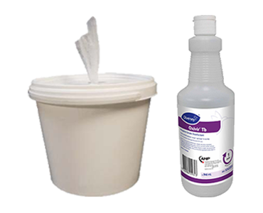 An image of the Spilfyter Sanitizing Wipe Kit with Oxivir Tb available through Bunzl Cleaning & Hygiene.