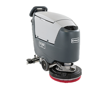 An image of the Nilfisk SC500 Walk-Behind Scrubber Dryer machine, available through Bunzl Cleaning & Hygiene.