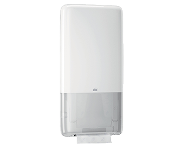 Image of a Tork PeakServe Hand Towel dispenser available through Bunzl Cleaning & Hygiene.