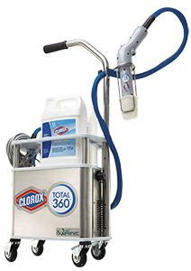 Image of Clorox Total 360 unit that is available through Bunzl Cleaning & Hygiene.