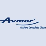 Avmor company logo in blue colour on a transparent background