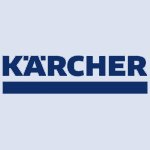 Karcher company logo in blue colour on a transparent background