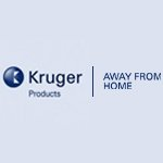 Kruger Products company logo in blue colour on a transparent background