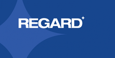 The blue logo of the REGARD brand of cleaning and disinfecting products.